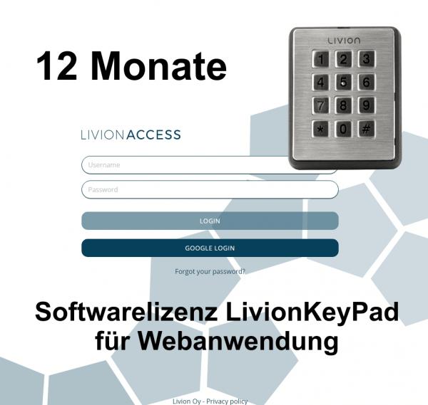 LivionKeyPad - Lizenzkosten 12 Monate Verlängerung
