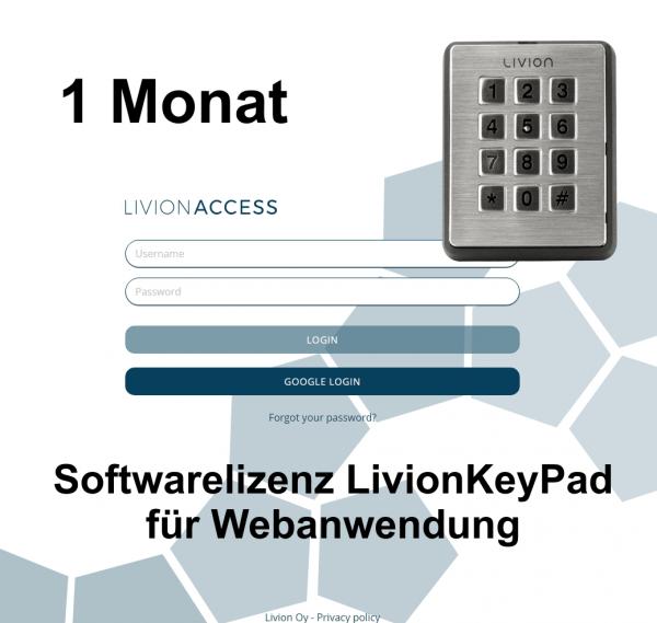 LivionKeyPad - Lizenzkosten 1 Monat