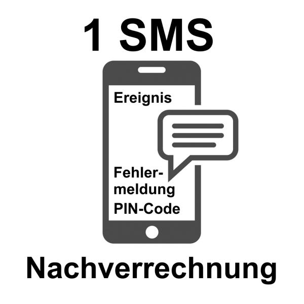 SMS-Nachricht 1 Stück Nachverrechnung